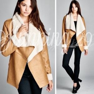 🆕️CAMEL BROWN  SHEARLING LAPEL JACKET